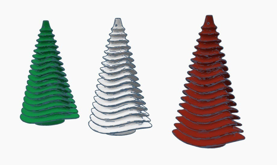 cb39720c589c28f474ecbd73f099a5ea_display_large.jpg Download free STL file Christmas tree - Christmas tree ornament • 3D printer model, Gophy
