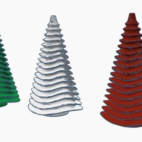 cb39720c589c28f474ecbd73f099a5ea_display_large.jpg Télécharger fichier STL gratuit Sapin de Noël - Ornement d'arbre de Noël • Design à imprimer en 3D, Gophy