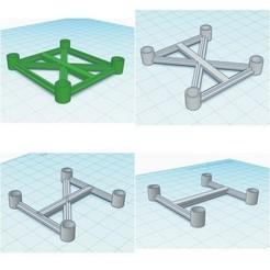 Download free 3D printer designs Unbreakable 6mm Frames - 4 Versions !, Gophy