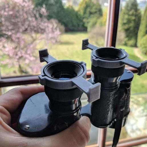 Télécharger objet 3D gratuit Monture de télescope pour smartphone, Gophy