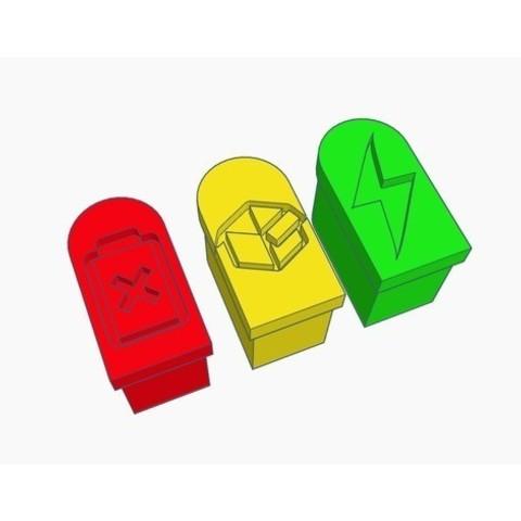 9e549b99eb4ab120b8f3f8f665ce5bb1_preview_featured.jpg Download free STL file XT30 Caps - 1 Color Only • 3D print design, Gophy