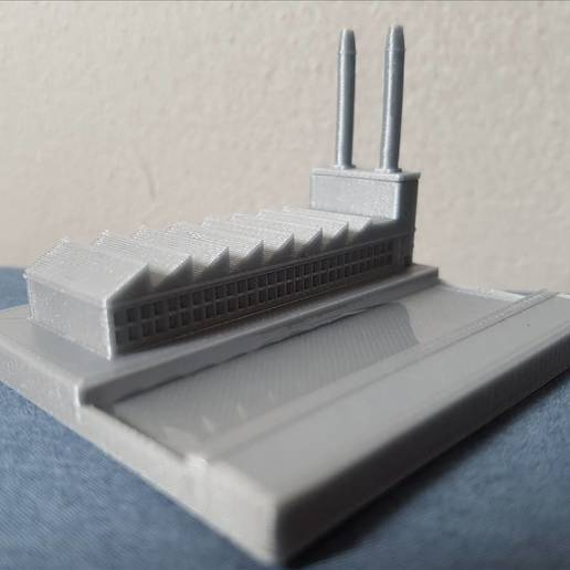 Download free 3D printing designs Mini factory with real river, Gophy