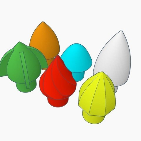 55a7ee03fd246237a7cacce03b35c15d_display_large.jpg Download free STL file NERF Darts - Custom Tips • 3D printable template, Gophy