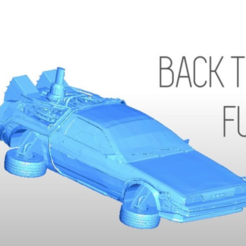 Free 3d printer files PRINTABLE DeLorean DMC-12 - Back to the future, Gophy