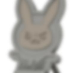 STL file Overwatch D.va Logo Phone stand, CreativePhilip