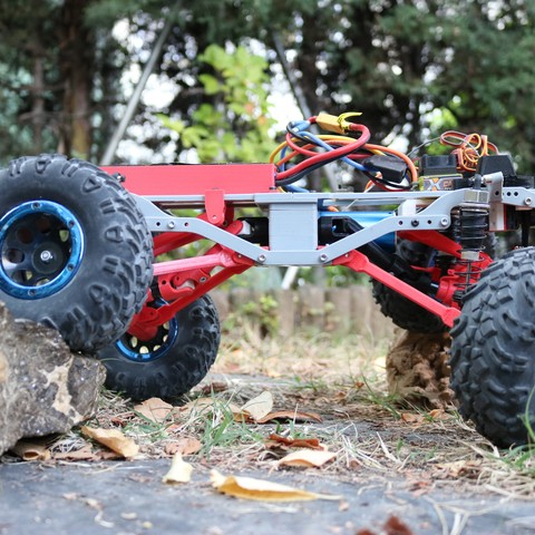 IMG_4983.JPG Download STL file MyRCCar 1/10 MTC Chassis Updated. Customizable chassis for Monster Truck, Crawler or Scale RC Car • 3D printer model, dlb5