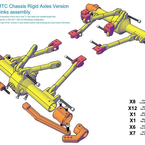 MTC_RigidAxles_drawing3.jpg Download STL file MyRCCar 1/10 MTC Chassis Rigid Axles Version. Customizable chassis for Monster, Crawler or Scale RC Car • 3D printing design, dlb5