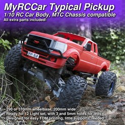 MRCC_TYP_2000x2000_Cults.jpg Download STL file MyRCCar Typical Pickup, 1/10 RC Car Body for MTC chassis, both versions • 3D printing template, dlb5