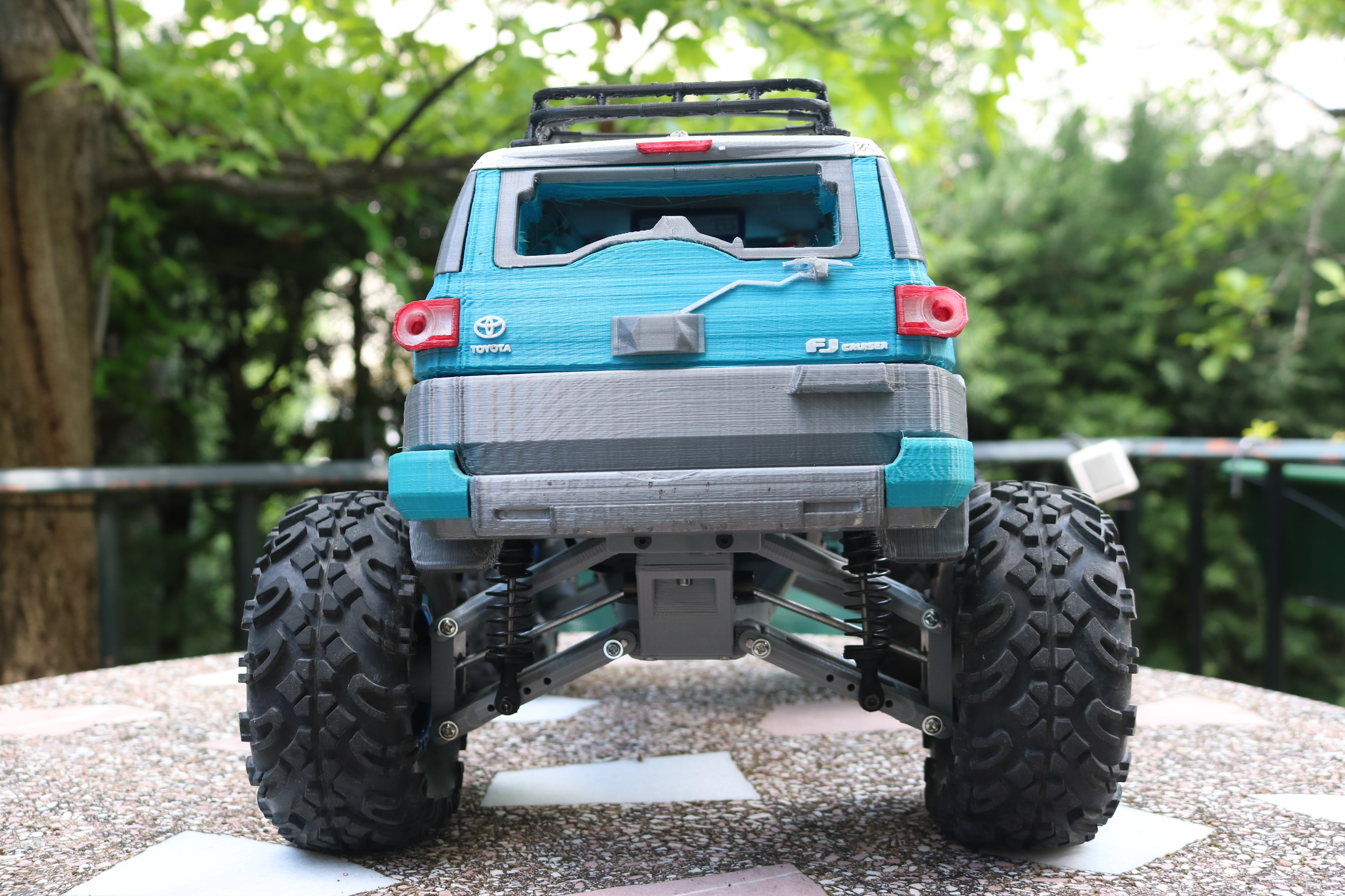 IMG_3688.JPG Download STL file MyRCCar 1/10 MTC Chassis Updated. Customizable chassis for Monster Truck, Crawler or Scale RC Car • 3D printer model, dlb5