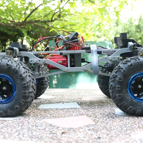 IMG_3666.JPG Download STL file MyRCCar 1/10 MTC Chassis Updated. Customizable chassis for Monster Truck, Crawler or Scale RC Car • 3D printer model, dlb5