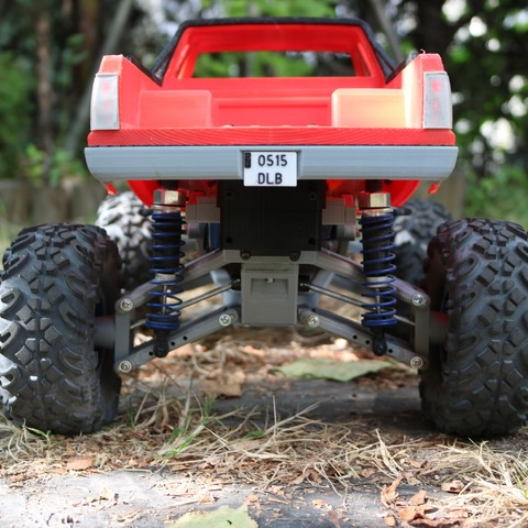 IMG_4930.JPG Download STL file MyRCCar 1/10 MTC Chassis Updated. Customizable chassis for Monster Truck, Crawler or Scale RC Car • 3D printer model, dlb5