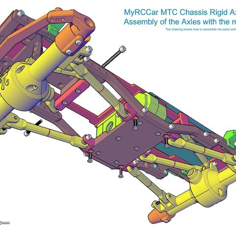 MTC_RigidAxles_drawing4.jpg Download STL file MyRCCar 1/10 MTC Chassis Rigid Axles Version. Customizable chassis for Monster, Crawler or Scale RC Car • 3D printing design, dlb5