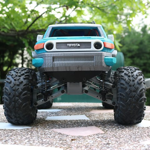 IMG_3678.JPG Download STL file MyRCCar 1/10 MTC Chassis Updated. Customizable chassis for Monster Truck, Crawler or Scale RC Car • 3D printer model, dlb5