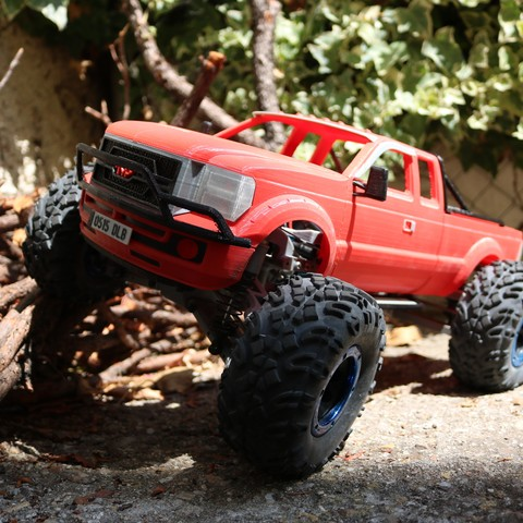 IMG_4920.JPG Download STL file MyRCCar 1/10 MTC Chassis Updated. Customizable chassis for Monster Truck, Crawler or Scale RC Car • 3D printer model, dlb5
