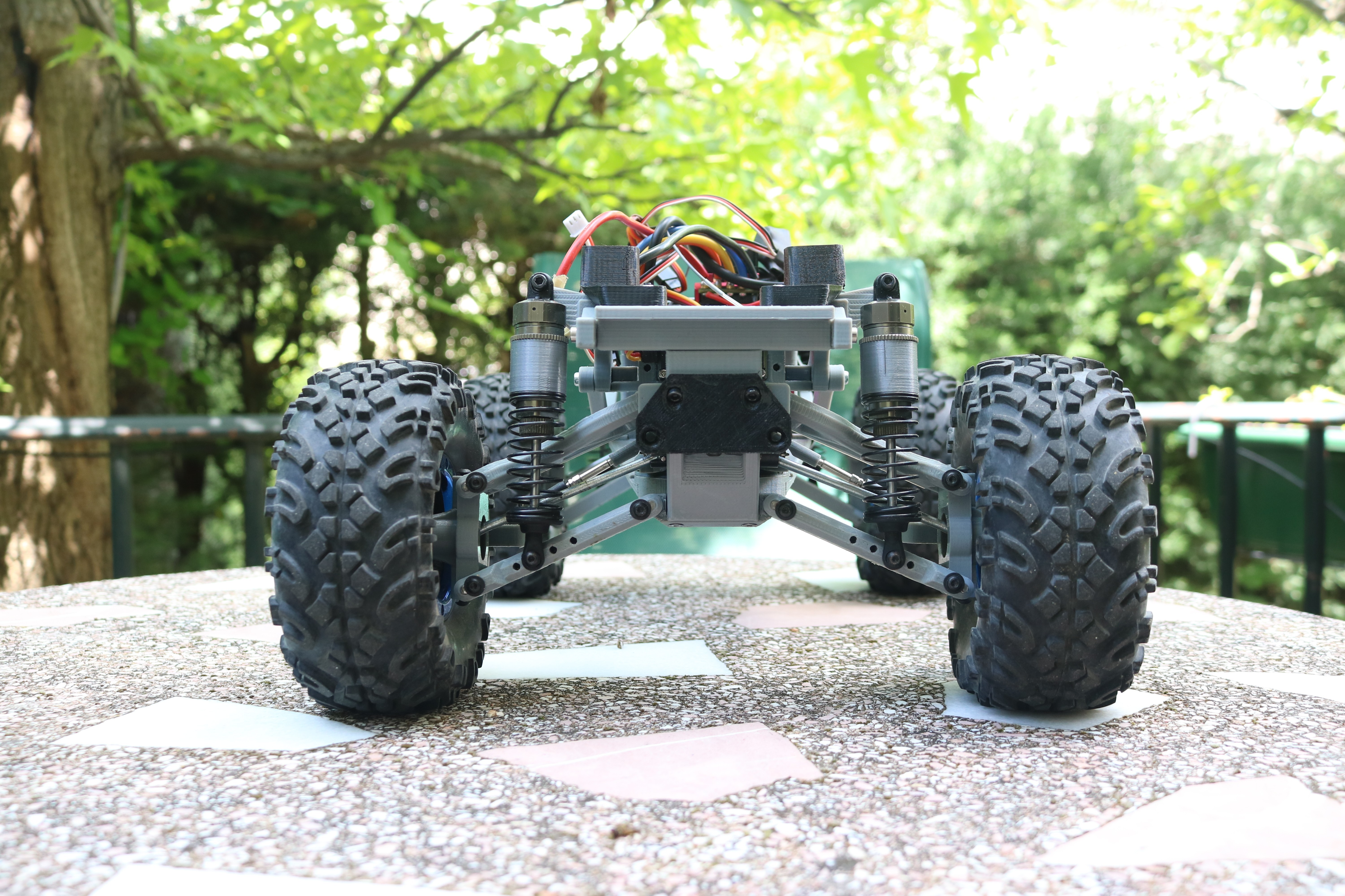 IMG_3667.JPG Download STL file MyRCCar 1/10 MTC Chassis Updated. Customizable chassis for Monster Truck, Crawler or Scale RC Car • 3D printer model, dlb5