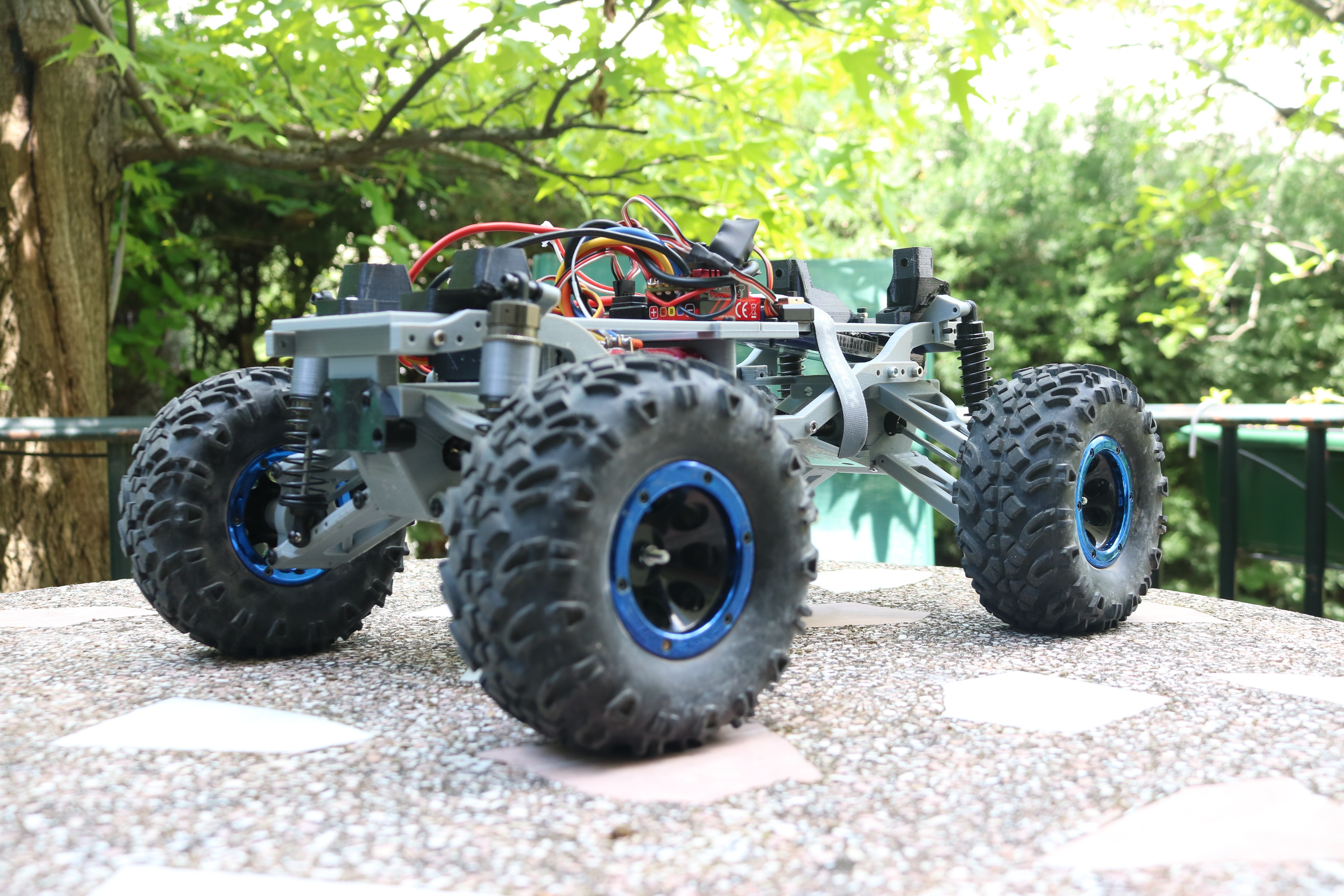 IMG_3668.JPG Download STL file MyRCCar 1/10 MTC Chassis Updated. Customizable chassis for Monster Truck, Crawler or Scale RC Car • 3D printer model, dlb5