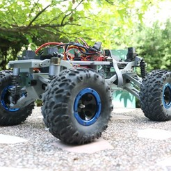 archivos 3d MyRCCar 1/10 MTC Chassis Updated. Customizable chassis for Monster Truck, Crawler or Scale RC Car gratis, dlb5