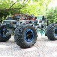 Diseños 3D gratis MyRCCar 1/10 MTC Chassis Updated. Customizable chassis for Monster Truck, Crawler or Scale RC Car, dlb5