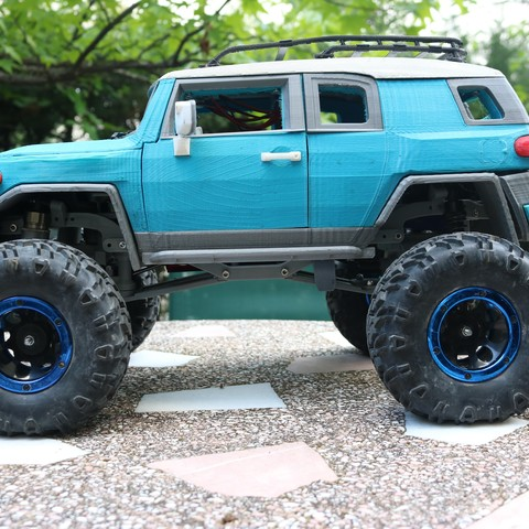 IMG_3682.JPG Download STL file MyRCCar 1/10 MTC Chassis Updated. Customizable chassis for Monster Truck, Crawler or Scale RC Car • 3D printer model, dlb5