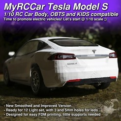 MRCC_TMS_2000x2000_cults.jpg Download STL file MyRCCar 1/10 Tesla Model-S RC Car Body revisited. Smoothed and detailed • Model to 3D print, dlb5