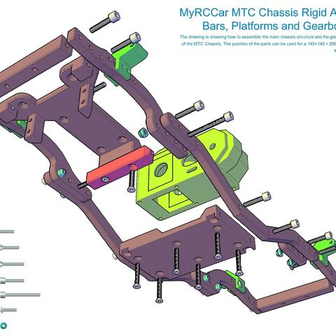 MTC_RigidAxles_drawing1.jpg Download STL file MyRCCar 1/10 MTC Chassis Rigid Axles Version. Customizable chassis for Monster, Crawler or Scale RC Car • 3D printing design, dlb5