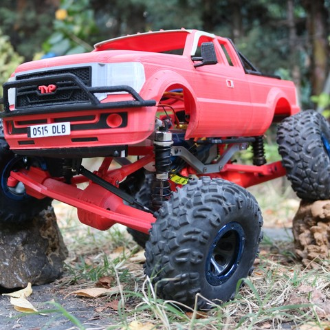 IMG_4971.JPG Download STL file MyRCCar 1/10 MTC Chassis Updated. Customizable chassis for Monster Truck, Crawler or Scale RC Car • 3D printer model, dlb5