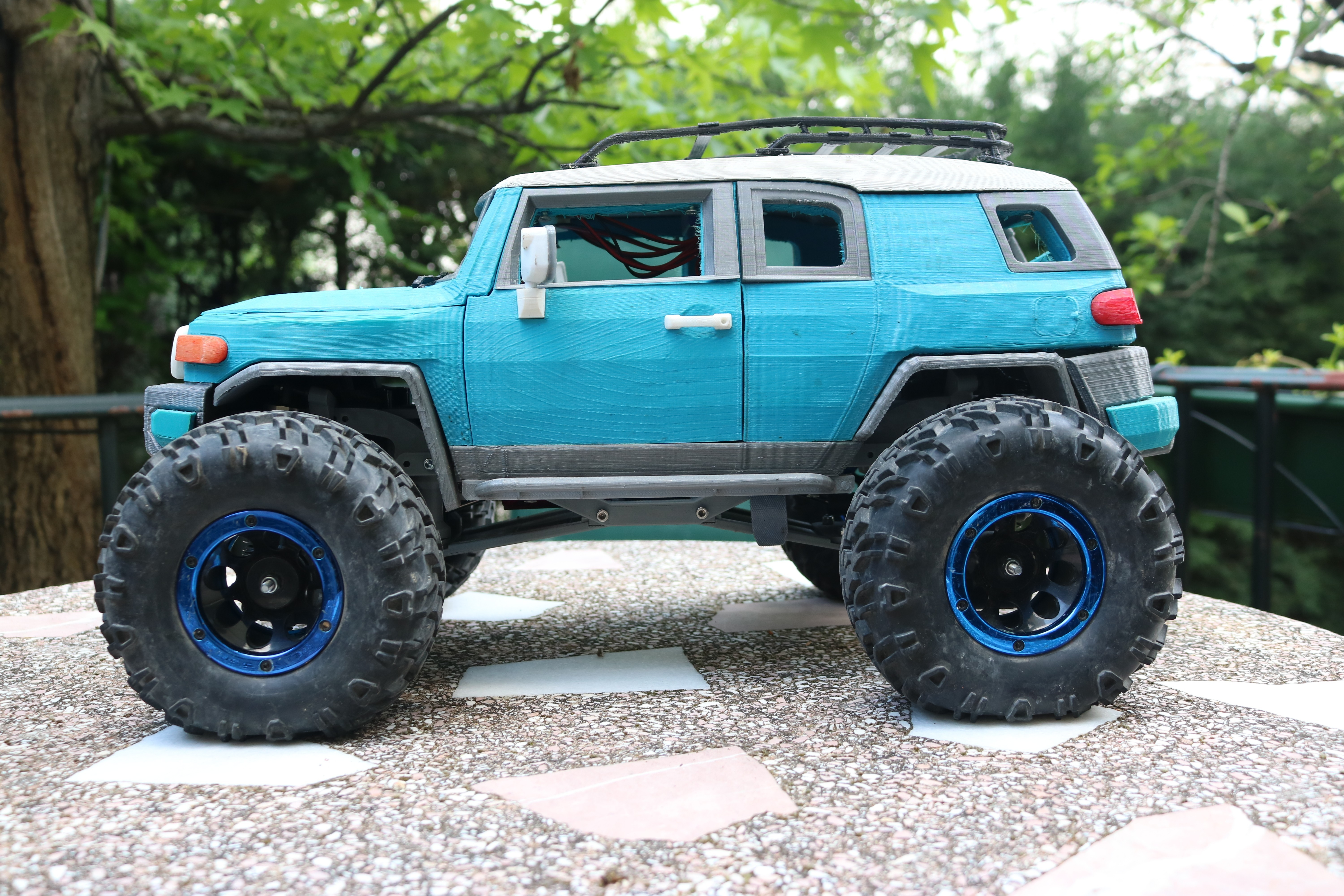 IMG_3683.JPG Download STL file MyRCCar 1/10 MTC Chassis Updated. Customizable chassis for Monster Truck, Crawler or Scale RC Car • 3D printer model, dlb5
