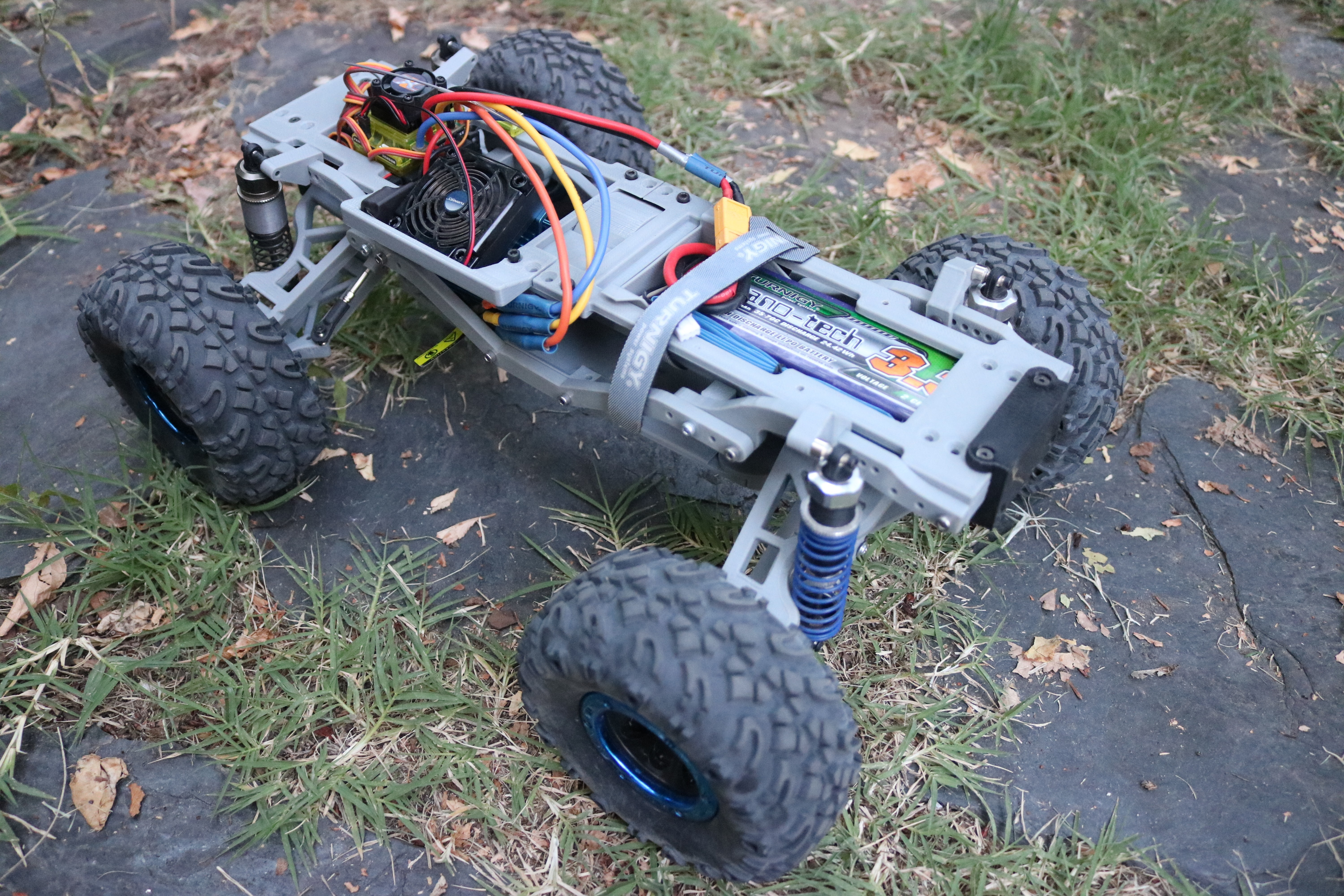 IMG_3879.JPG Download STL file MyRCCar 1/10 MTC Chassis Updated. Customizable chassis for Monster Truck, Crawler or Scale RC Car • 3D printer model, dlb5