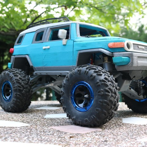 IMG_3679.JPG Download STL file MyRCCar 1/10 MTC Chassis Updated. Customizable chassis for Monster Truck, Crawler or Scale RC Car • 3D printer model, dlb5