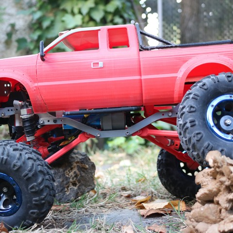 IMG_4972.JPG Download STL file MyRCCar 1/10 MTC Chassis Rigid Axles Version. Customizable chassis for Monster, Crawler or Scale RC Car • 3D printing design, dlb5