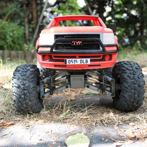 IMG_4929.JPG Download STL file MyRCCar 1/10 MTC Chassis Updated. Customizable chassis for Monster Truck, Crawler or Scale RC Car • 3D printer model, dlb5