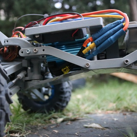 IMG_3878.JPG Download STL file MyRCCar 1/10 MTC Chassis Updated. Customizable chassis for Monster Truck, Crawler or Scale RC Car • 3D printer model, dlb5