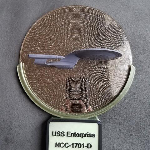 Impresiones 3D Lámpara de pared Star Trek Enterprise, MakeandModify