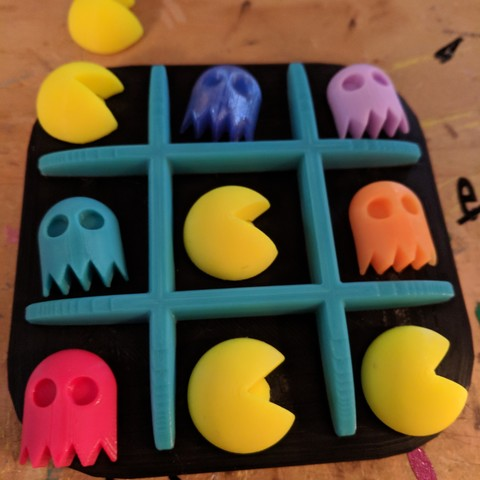 STL files Pac Man Tic Tac Toe, 3dBiscuits
