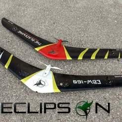Descargar STL gratis Ala de vuelo - UAV - El ala negra - parte de prueba, Eclipson