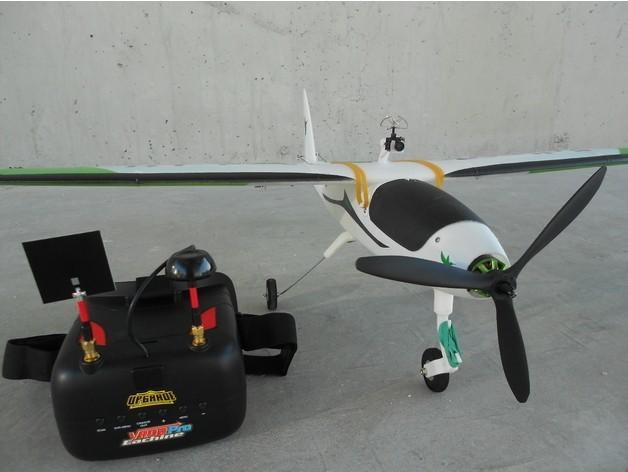 30a56a32fe54171d8779366a3f23fd78_preview_featured.jpg Télécharger fichier STL gratuit FPV montage de caméra pour avion RC Modèle Y • Objet pour imprimante 3D, Eclipson