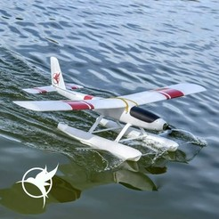 Download free 3D printing designs RC seaplane test part, Eclipson
