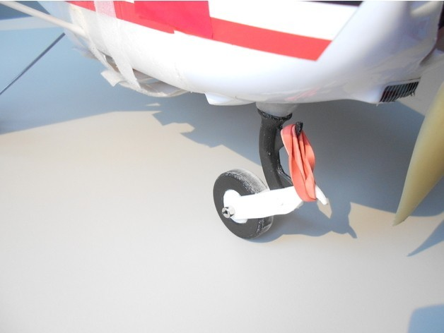 cf80a2dab47d03e46589068fe03e9836_preview_featured.jpg Download free STL file RC plane nose landing gear • 3D print template, Eclipson