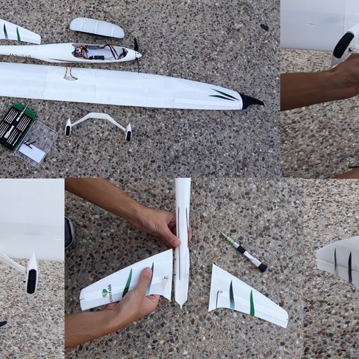 Detachable_design.jpg Download free STL file Radio controlled airplane - Model V - Test part • 3D printer model, Eclipson