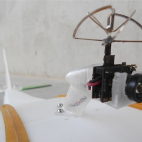 ea090fde5c7cb63a7353b2c21bad1210_preview_featured.jpg Télécharger fichier STL gratuit FPV montage de caméra pour avion RC Modèle Y • Objet pour imprimante 3D, Eclipson