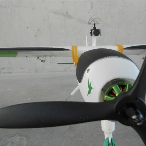 7efbcf4807369355ca248dc4f2e7be3f_preview_featured.jpg Télécharger fichier STL gratuit FPV montage de caméra pour avion RC Modèle Y • Objet pour imprimante 3D, Eclipson