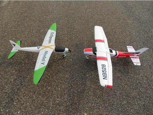 b35bcce22d95a79a1f51ce40b1fe87e0_preview_featured.jpg Download free STL file RC plane nose landing gear • 3D print template, Eclipson