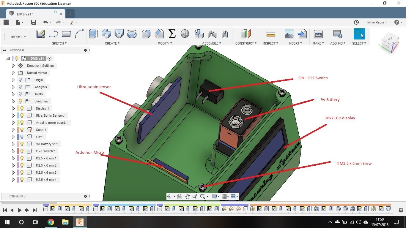 Part List.jpg Download STL file Ultra-Sonic Distance & Speed! Measuring equipment • 3D print object, Mirketto