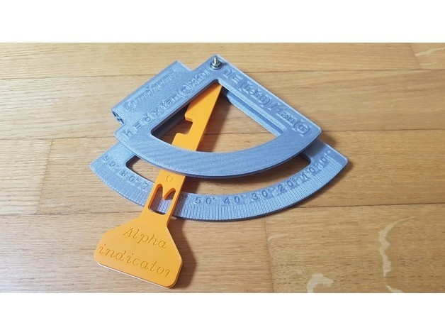 6c6c48453028192197b70a6f5e8305c0_preview_featured.jpg Download free STL file Quadrant (Sexstant predecessor) - Celestial navigation - NO Supports • 3D printing design, Mirketto