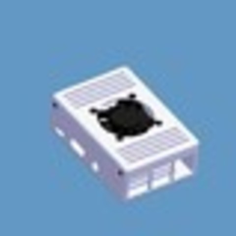 317953c8ad9cb3402cc43f07c0c6863f_preview_tiny.jpg Download free STL file | TIKO | The Raspberry Pi Case w/ Fan • 3D printer design, Cre8iveLab