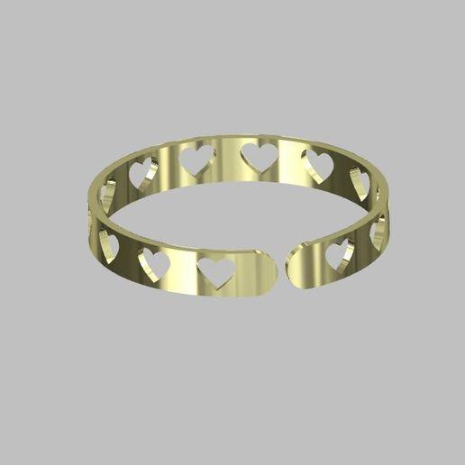 Download free 3D printing models Heart bracelet, Oliv32