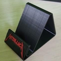 Télécharger objet 3D Metallica Support telephone Version 2, Oliv32