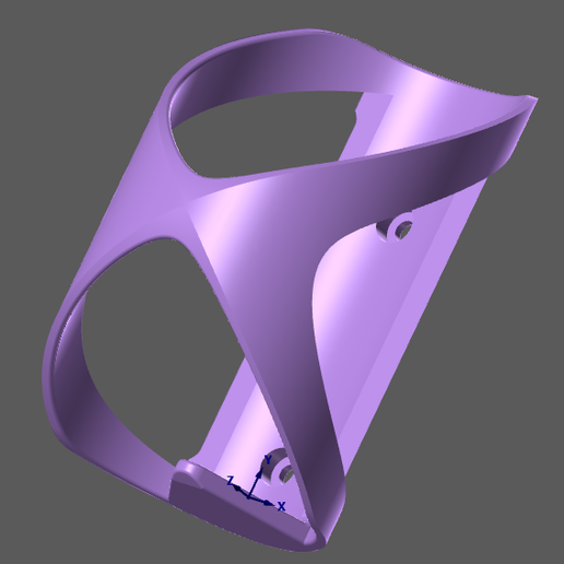 Imprimir en 3D gratis Portabotellas de bicicleta de montaña, Oliv32