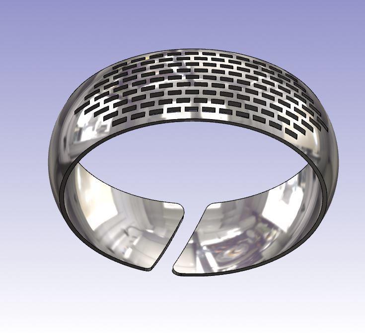Capture.JPG Télécharger fichier STL gratuit Bracelet incurvé rectangle • Plan imprimable en 3D, Oliv32