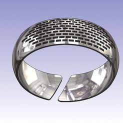 Download free STL files Rectangular curved bracelet, Oliv32